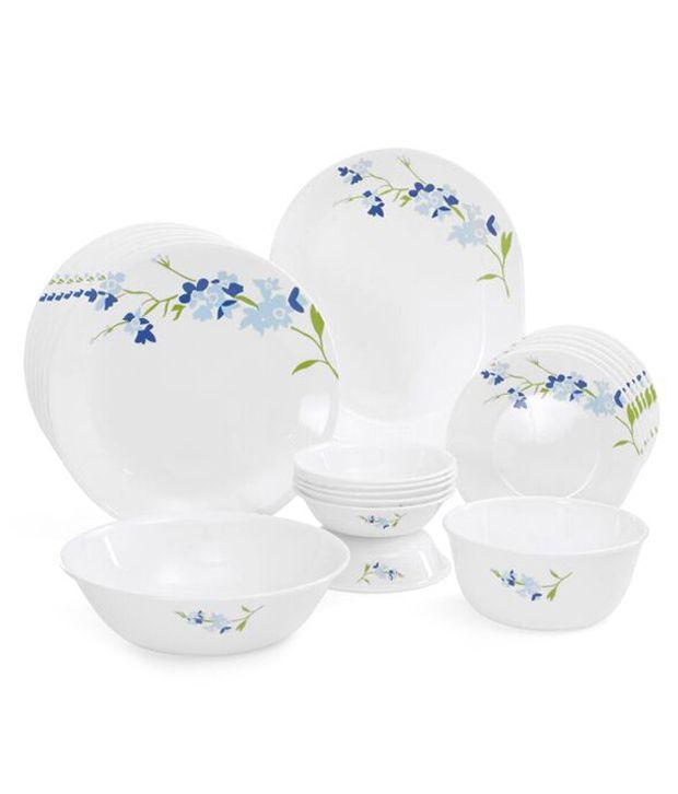 Corelle India Collection Blue Blossom 30 Pcs Dinner Set