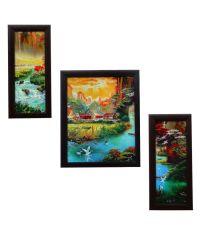 Indianara Nature's Bounty Framed Wall Art - Set Of 3 Pcs ...