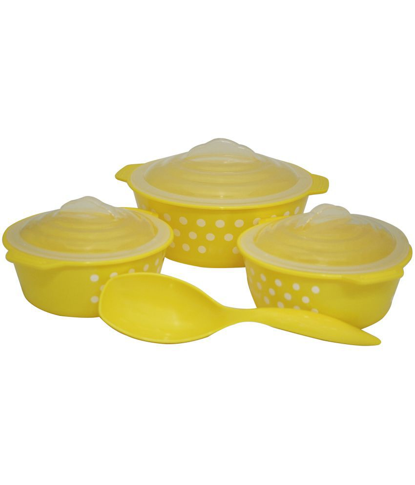 Microwave Safe Bowls Csm Oven Cook Microwave Safe Serving Bowls With Spoon Yellow