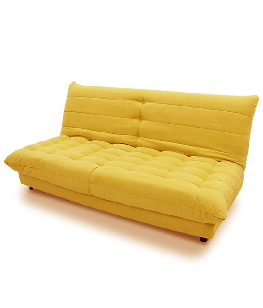 Yellow Sofa Online India Gaiety Sofa Bed Yellow Buy Gaiety Sofa Bed Yellow Online At Best