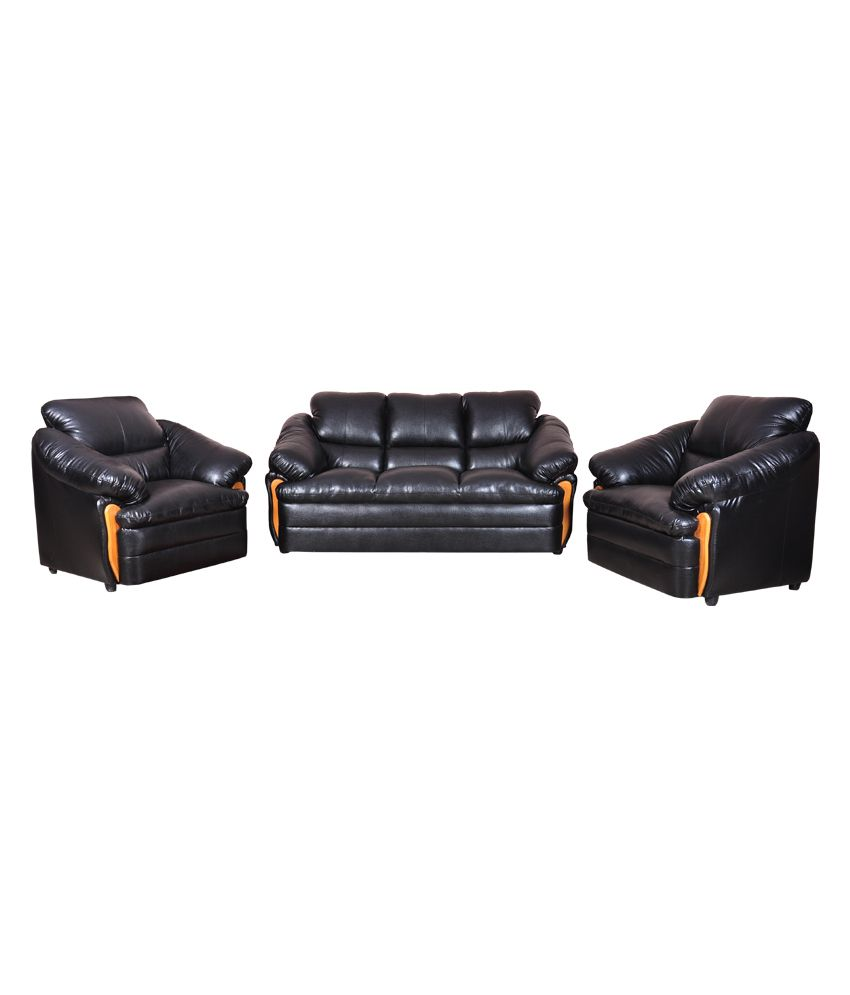 Amar Furniture Luxury Black Leather Sofa - Buy Amar Furniture Luxury Black Leather Sofa Online at Best Prices in India on Snapdeal