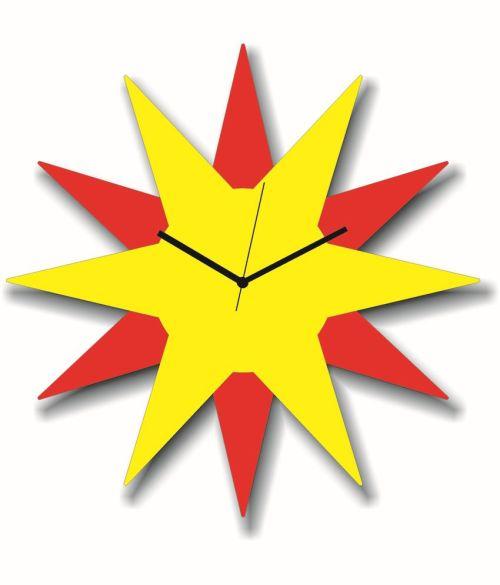 Medium Of Star Shaped Wall Clocks