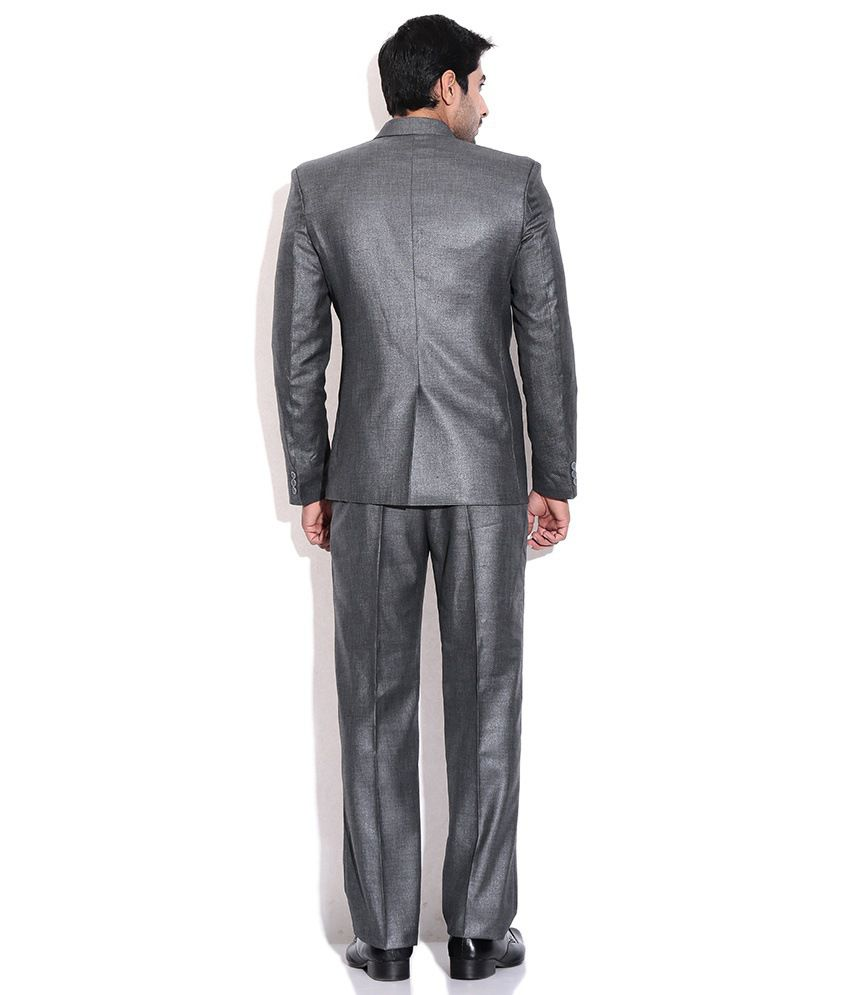Grey Colour Formal Pant La Scoot Dark Grey Colour Suiting Fabric Formal Wear Coat