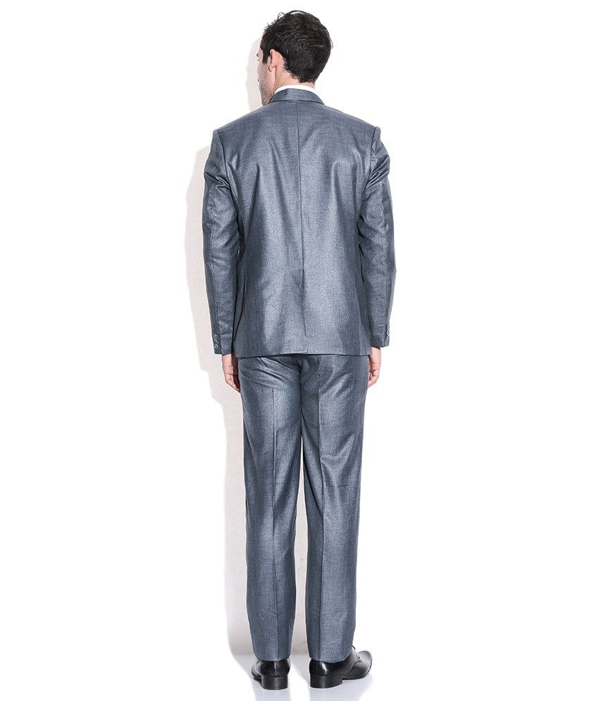 Grey Colour Formal Pant La Scoot Grey Colour Suiting Fabric Formal Wear Coat Pant