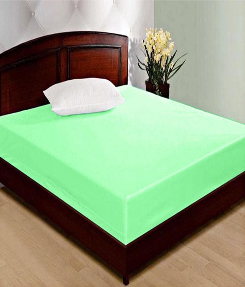 Double Bed Mattress Cover Jbg Home Store Green Waterproof Double Bed Mattress Cover