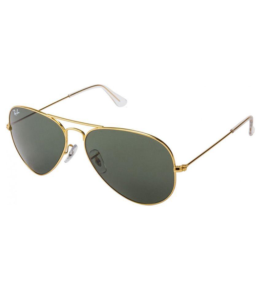 Ray ban green aviator sunglasses rb3025 l0205 58 14