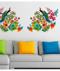 Stickerskart Multicolor Peacock Birds On Colourful Branch ...