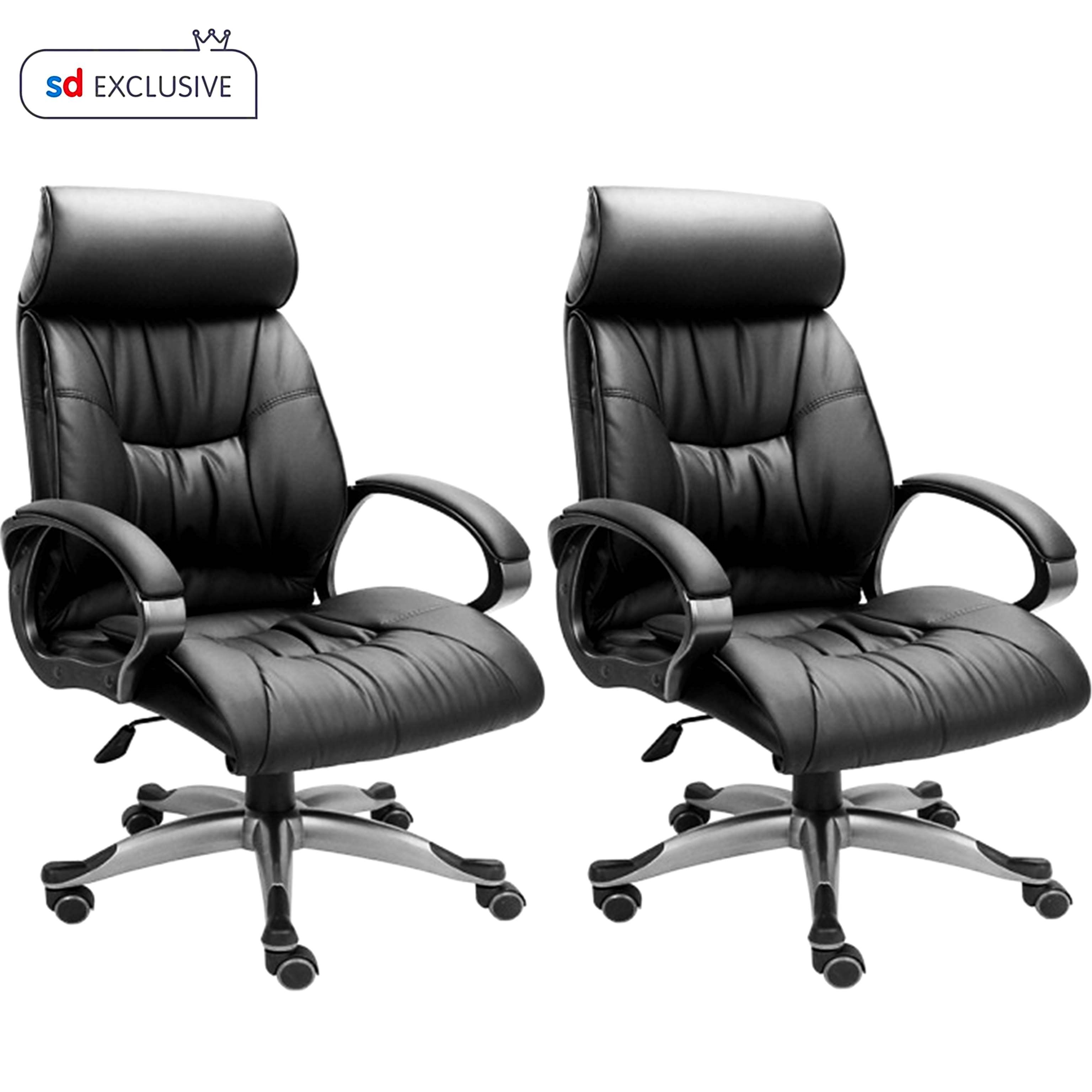 Buy Office Chairs Online Buy 1 High Back Leatherette Office Chair Get 1 Free Buy