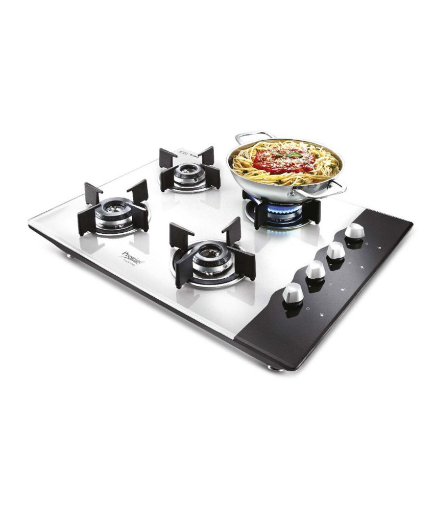 Prestige Pht 04 4 Burner Glass Auto Hob Top Price In India - Electric Stove Price