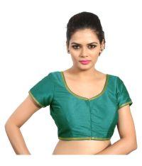 Atulya Designer Blouse Green Sweetheart Shape Back Blouse ...