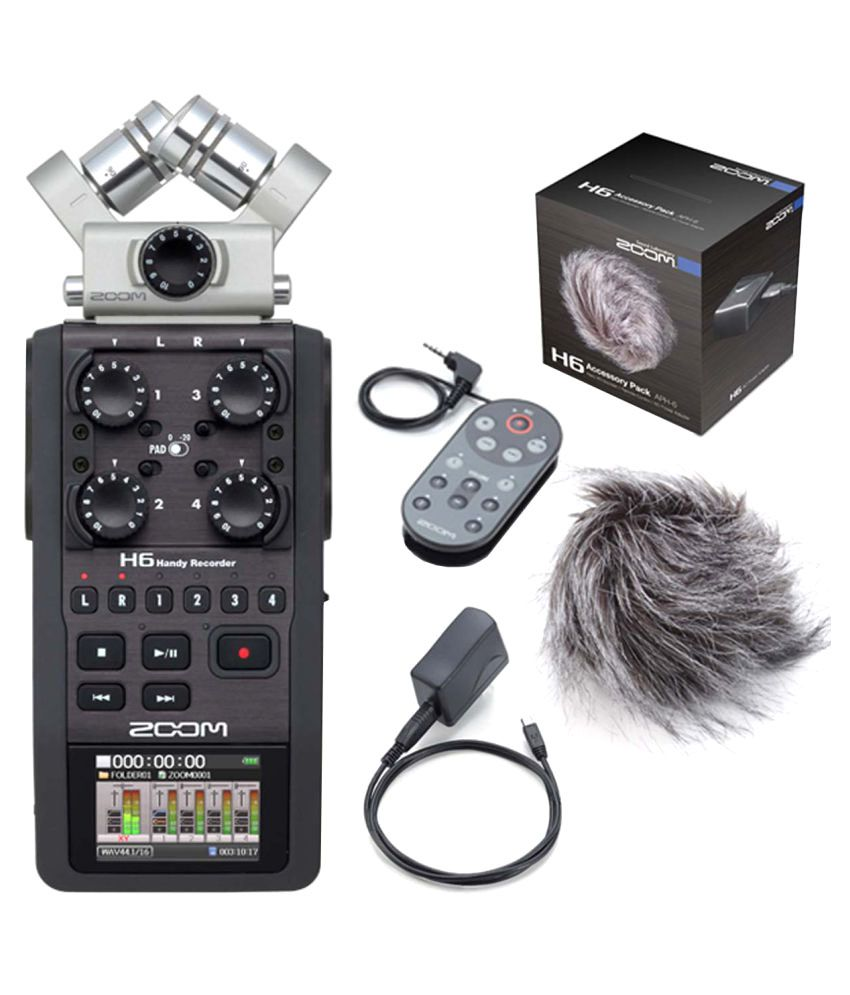 Zoom H6 Recorder Zoom H6 Handy Portable Stereo Recorder Aph 6 Accessory Pack Bundle