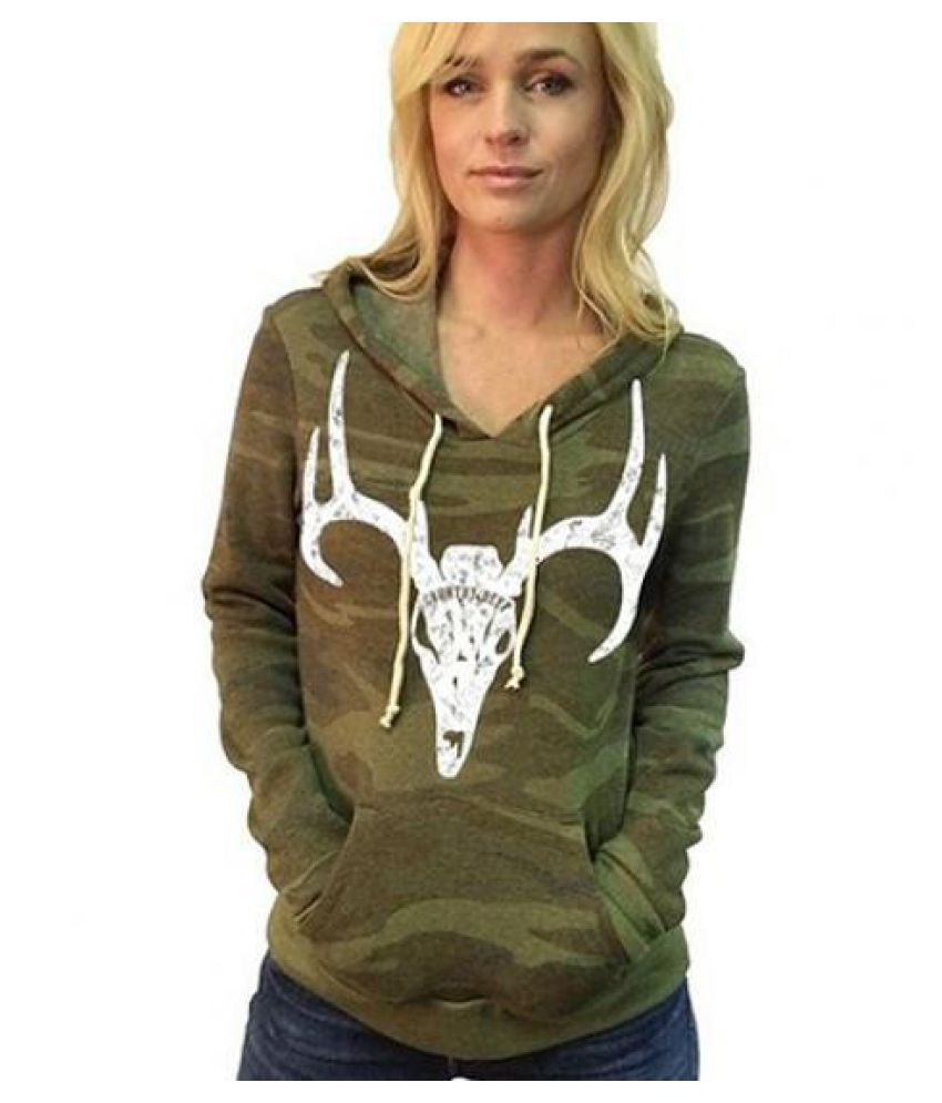 Camo Hoodie India Women S Fashion Deer Silhouette Camouflage Pullover Hooded