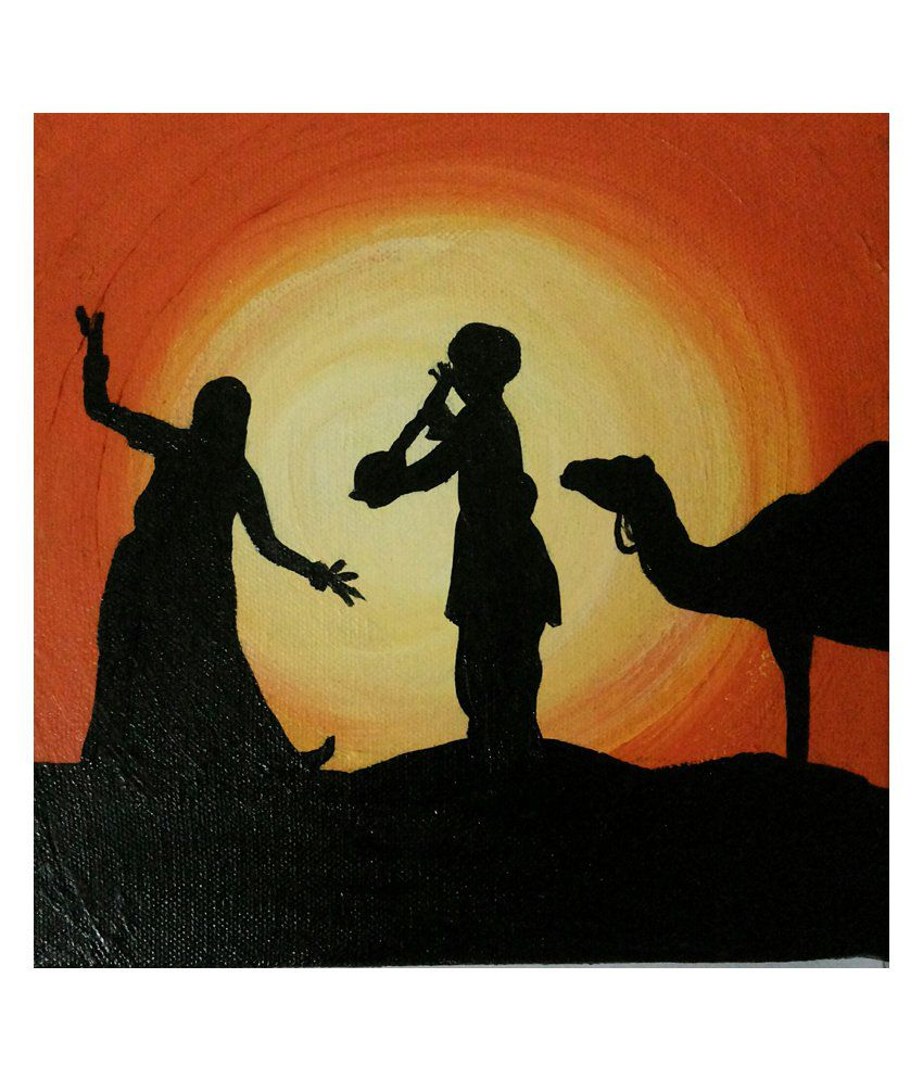 Perfect Strokes Textured Wooden Rajasthaniscene Silhouette Painting Buy Perfect Strokes Textured Wooden Rajasthaniscene Silhouette Painting At Best Price In India On Snapdeal