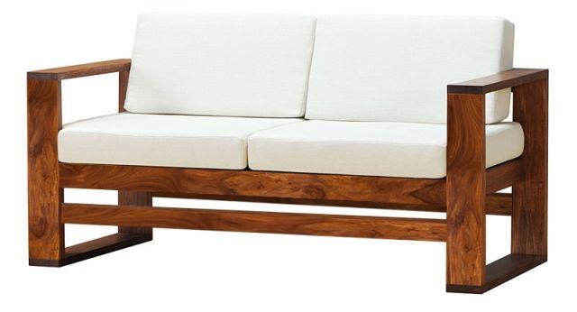 Buy Two Seater Sheesham Wood Sofa Get 2 Single Seater