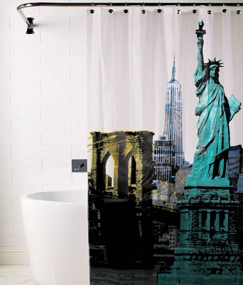 Buy Shower Curtains Online Skipper White Pvc Shower Curtain
