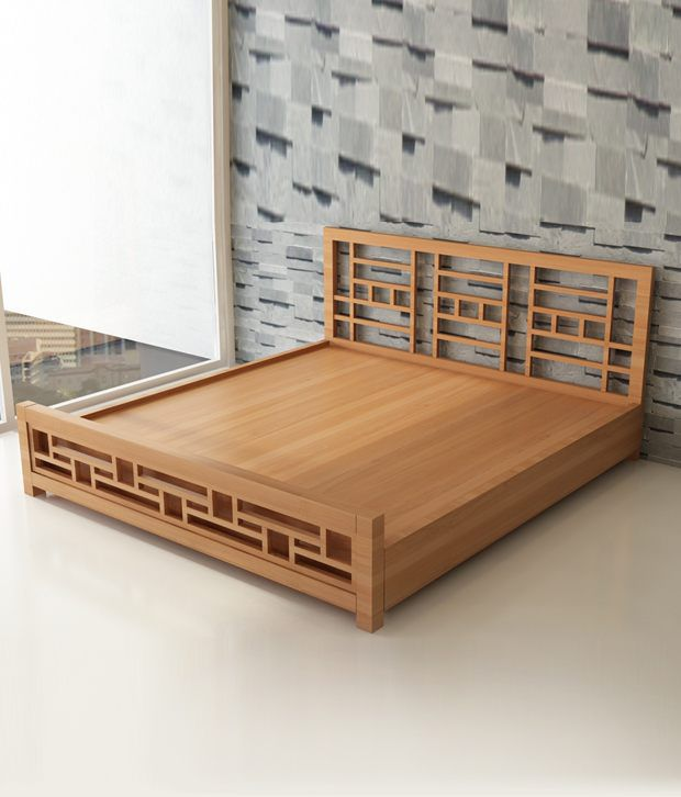 Buy Teak Wood Bed Online India Decore King Bed Mahogany Finish In Teak Wood - Buy Decore
