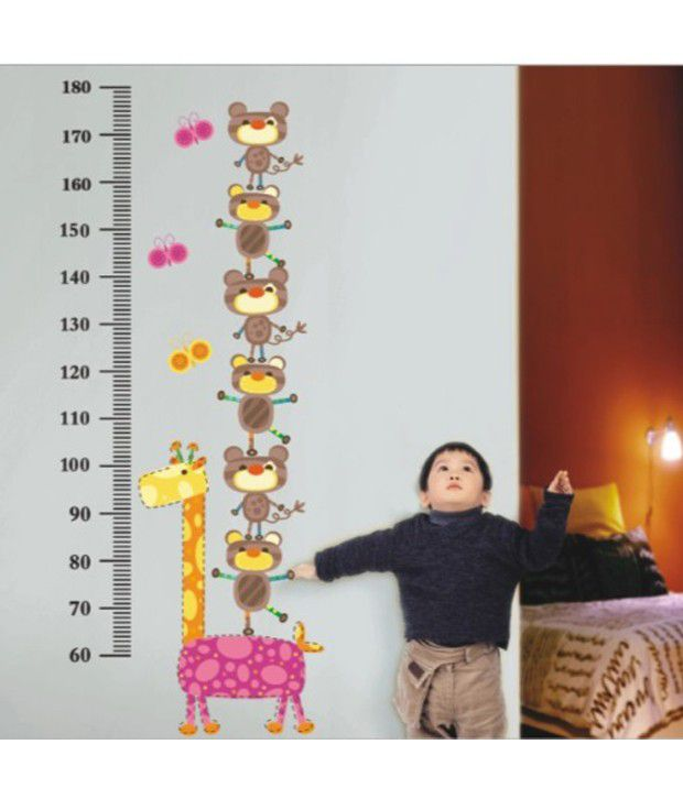 LITSTICK Pvc Multicolour Kids Height Chart Wall Sticker - Buy