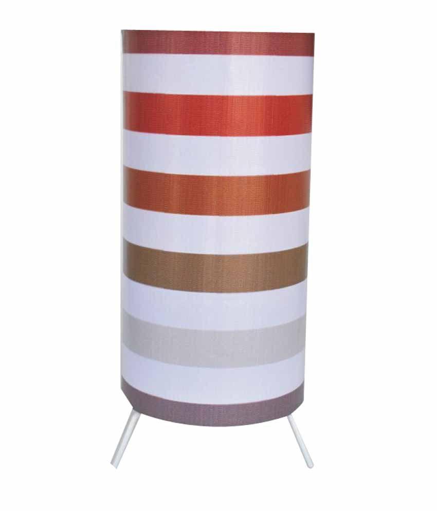 Lotus Lamp Shades Brown Stripes Flex Table Lamp: Buy Lotus