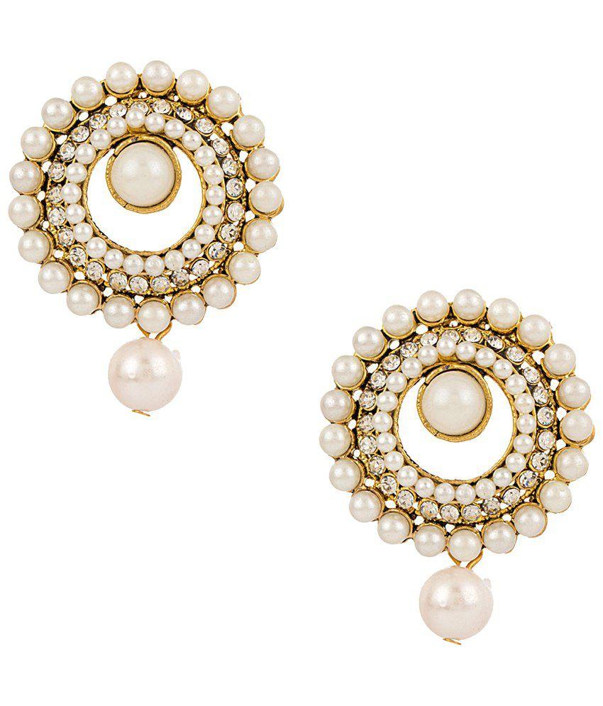 Voylla Pretty Gold Plated Stud Earrings: Buy Voylla Pretty