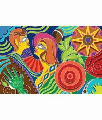 Buy Walls and Murals Colourful Modern Abstract Wallpaper ...