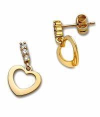 Facetzinspire Real Diamond 14Kt Gold Earring: Buy ...