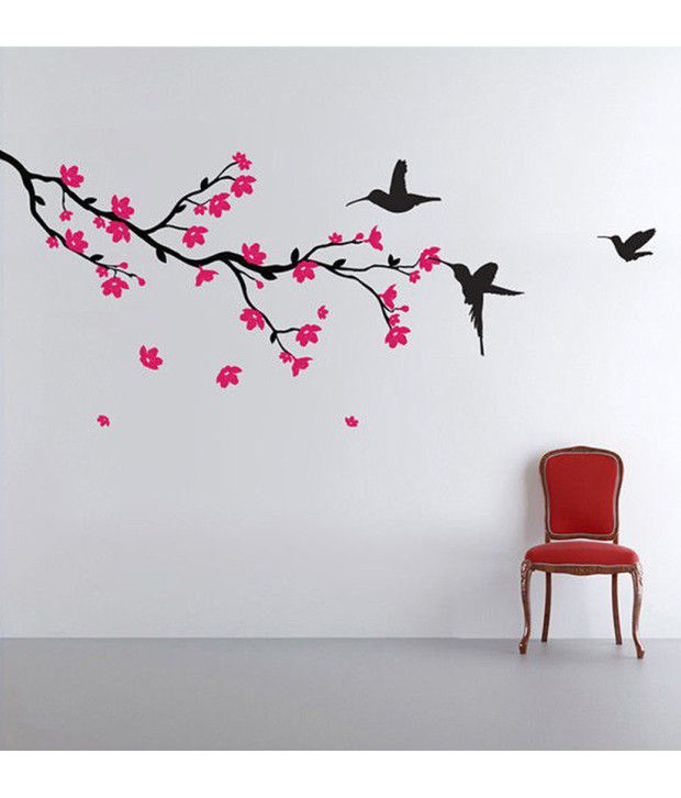 3d Wallpaper In Bangalore Stickerskart Wall Stickers Wall Decals Hummingbirds And