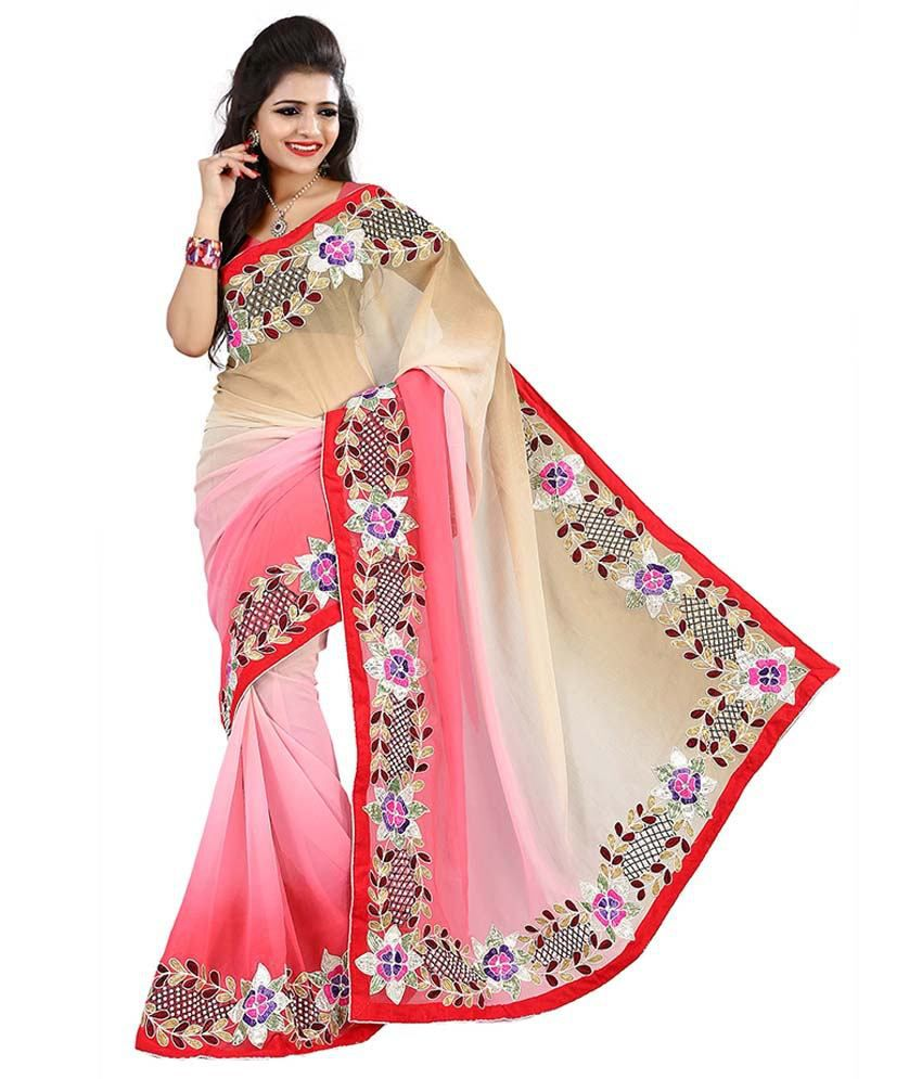 Piece Unik Unik Fashion Multicolour Saree With Blouse Piece Buy Unik
