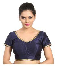 Atulya Designer Blouse Navy Sweetheart Shape Back Blouse ...