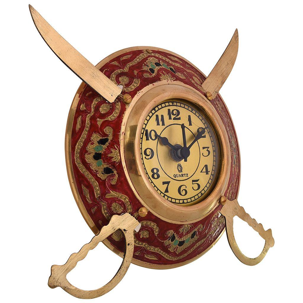 Unique Handicrafts Circular Analog Wall Sdl077616100 1 86623 Wall Clock Designs furniture Wall Clock Artistic
