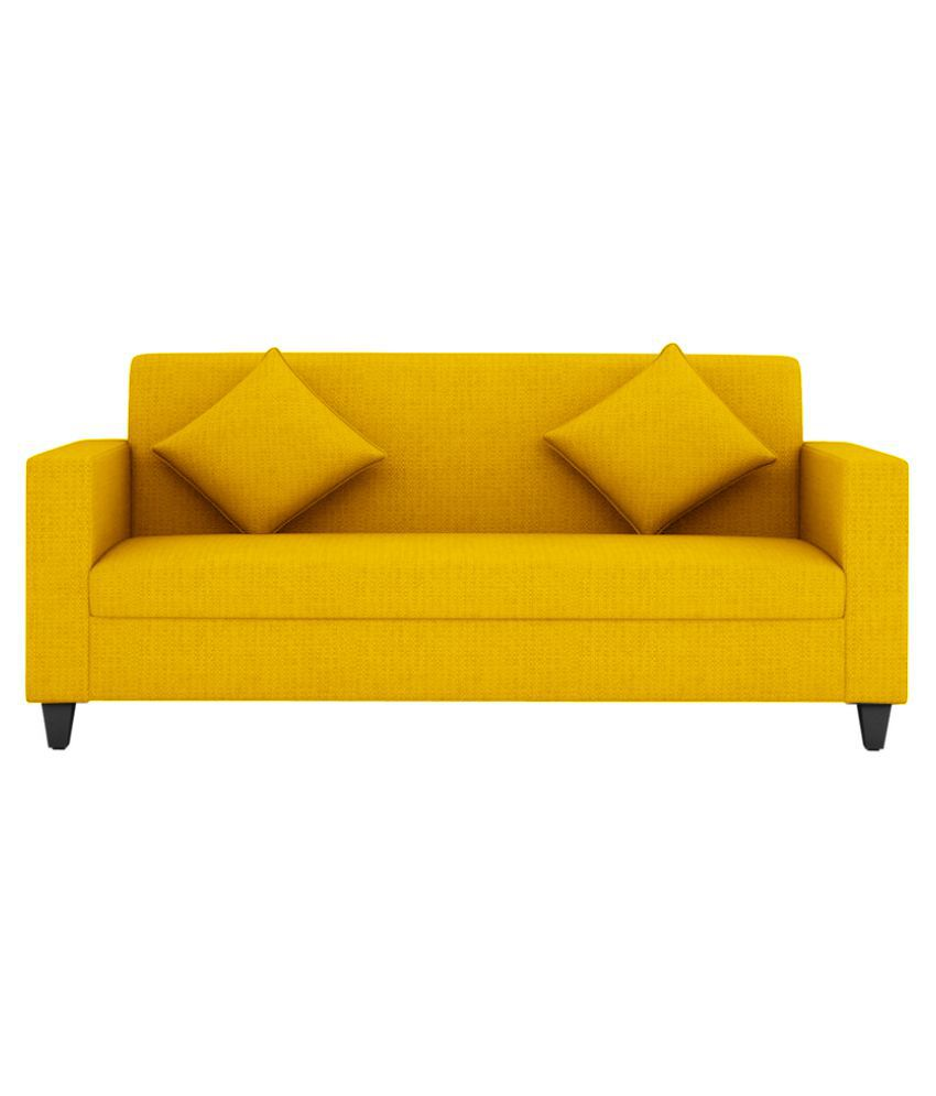 Yellow Sofa Online India Fabbulls Fabron Fabric Sofa