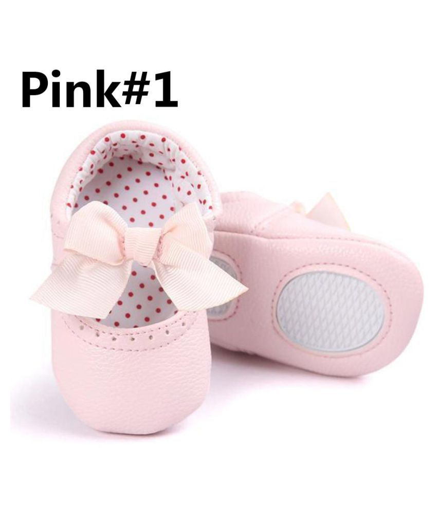 Newborn Crib Shoes Newborn Baby Girl Soft Sole Faux Leather Crib Shoes Anti