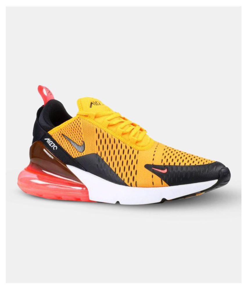 Air Max Running Nike Air Max 270 Tiger Yellow Running Shoes