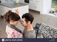 Couple Dancing In Living Room Stock Photos & Couple