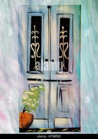 Decorative Painted Doors Stock Photos & Decorative Painted ...