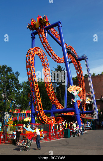 Tivoli Gardens Thrill Rides Amusement Park Rides Thrill Stock Photos & Amusement Park