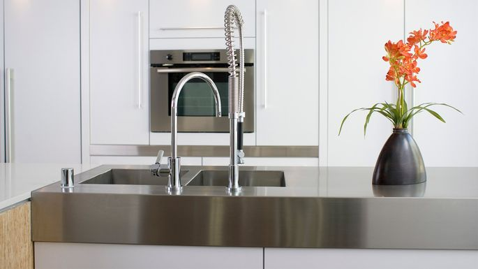 Stainless Steel Countertops Advantages, Cost, Care, and More