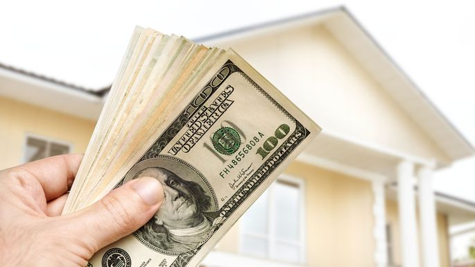 What Is a Cash-Out Refinance? Stacks of Cash From Home Equity - cash out refi calculator