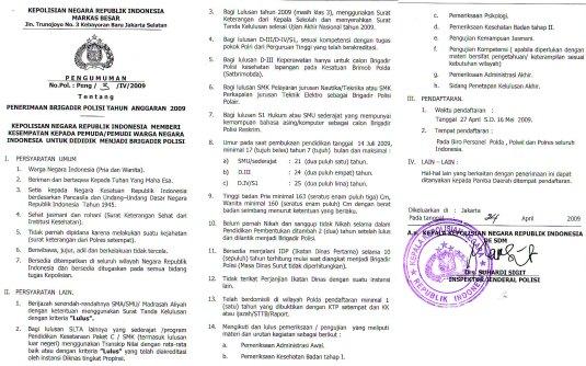 Loker Padang Panjang Terbaru Loker Daerah Tangerang Terbaru Lokerjobindo 535 X 334 Jpeg 55kb Pengumuman Terbaru Penerimaan Brigadir Polri 2015