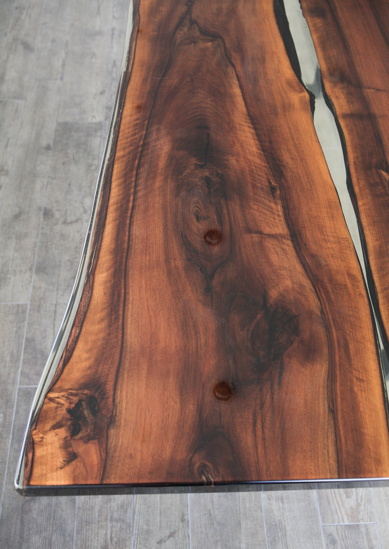 Live Edge Tisch Split Epoxy Table - Nabla Furniture