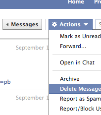 permanently delete facebook messages