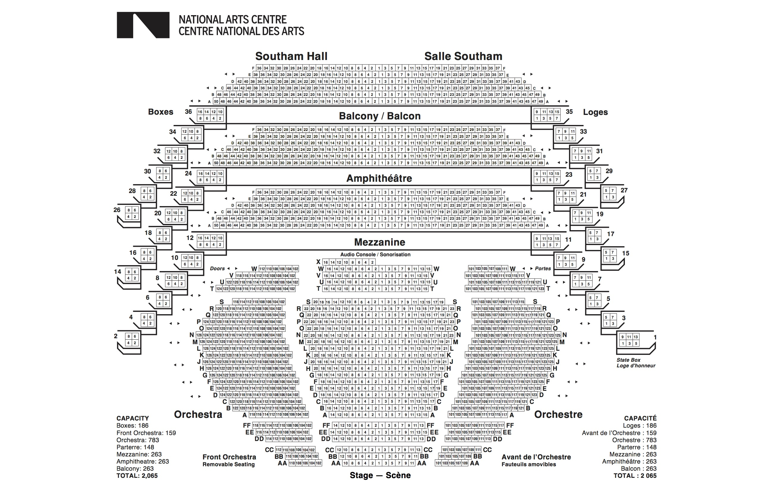 Seating Plans National Arts Centre