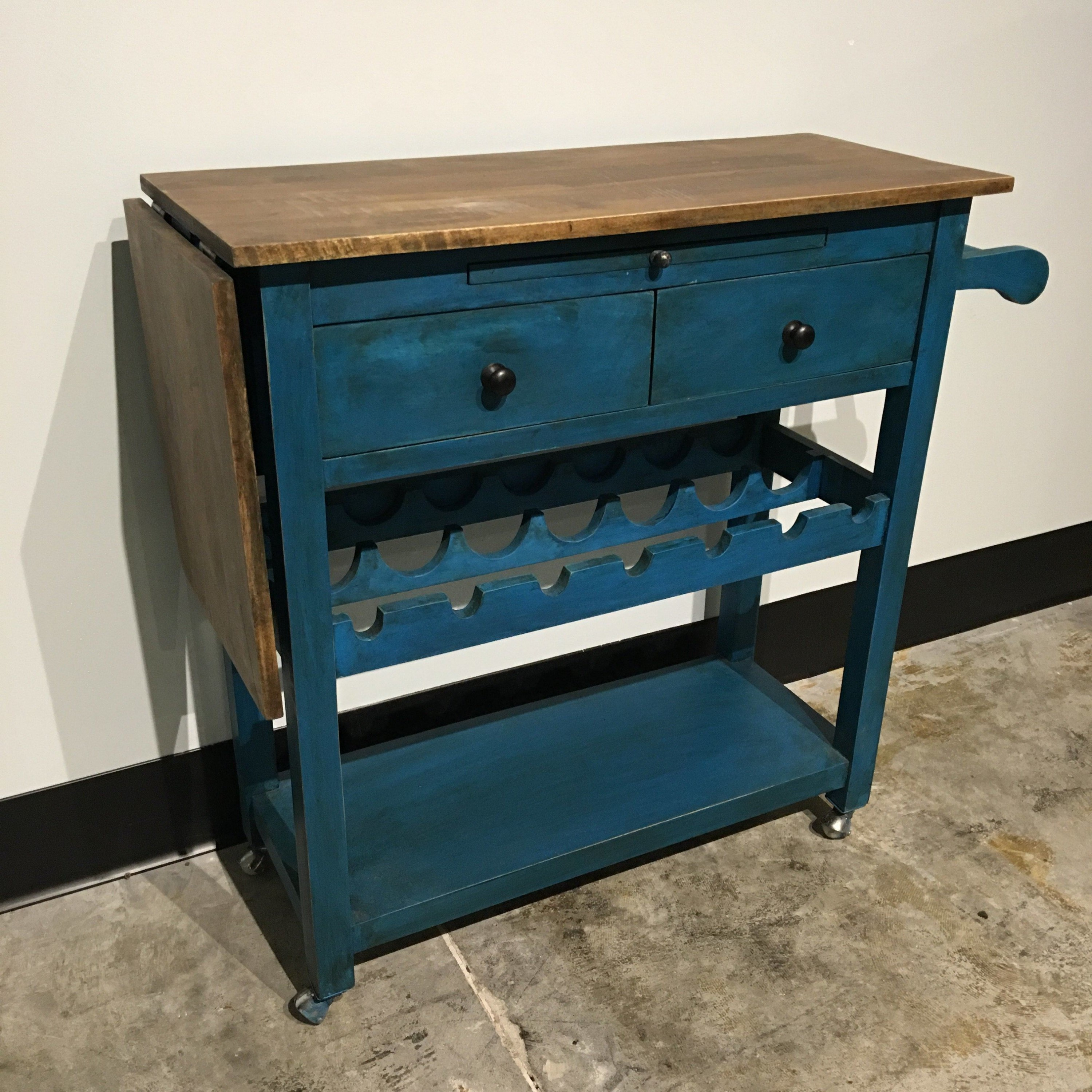 Table with Wine Storage