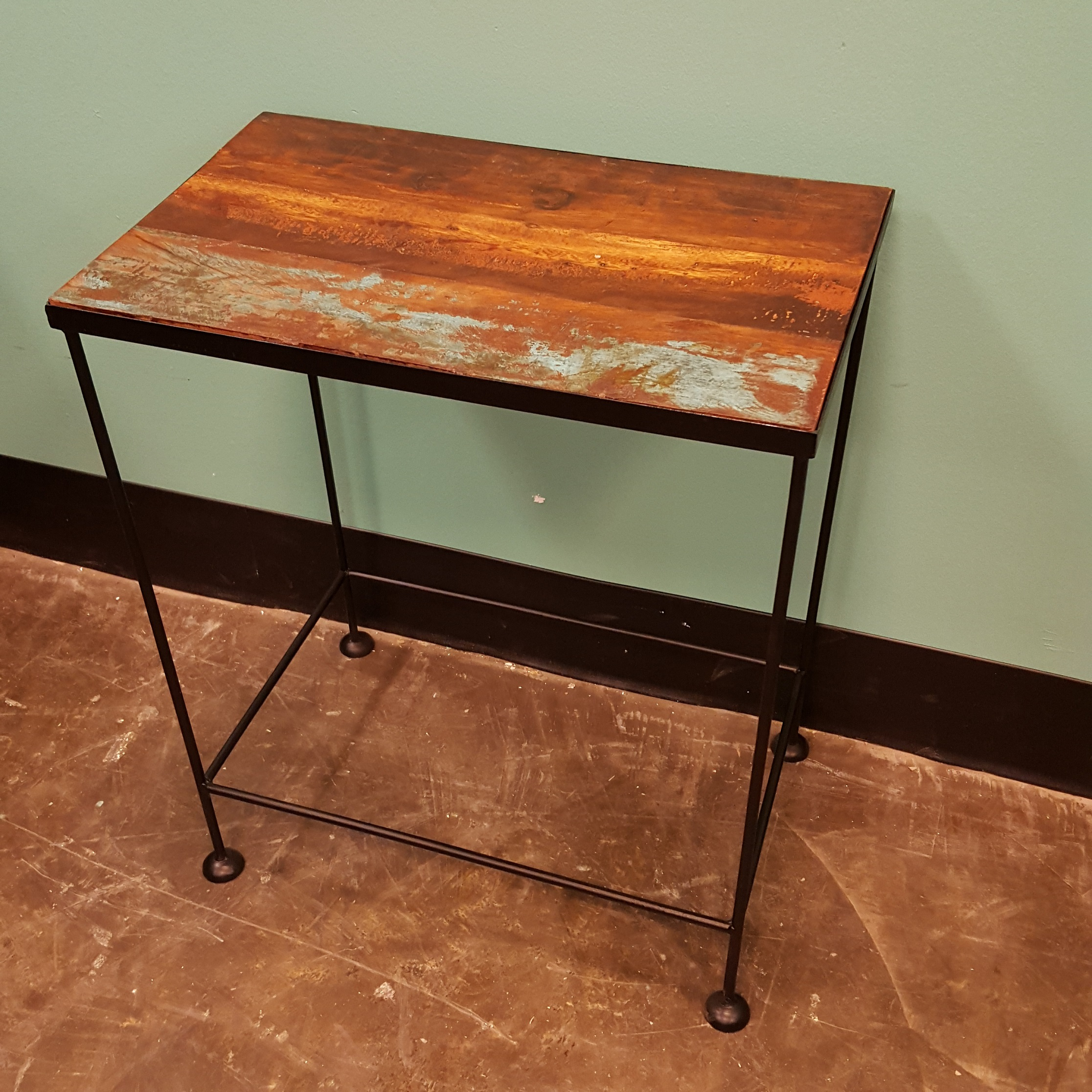 Wood And Metal Side Tables Iron And Wood Side Table Nadeau Memphis