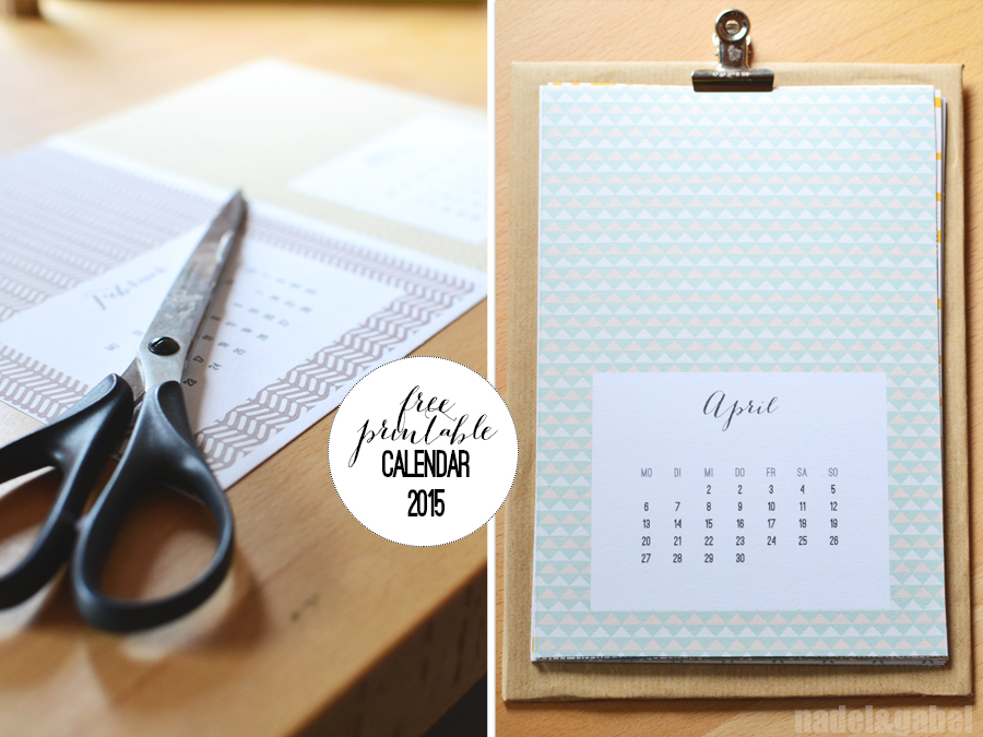 Into a structured new year \u2013 Free printable calendar 2015 nadelgabel