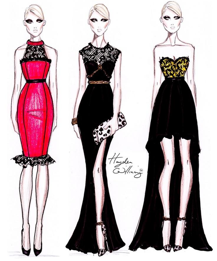 Эскизы платьев от дизайнеров