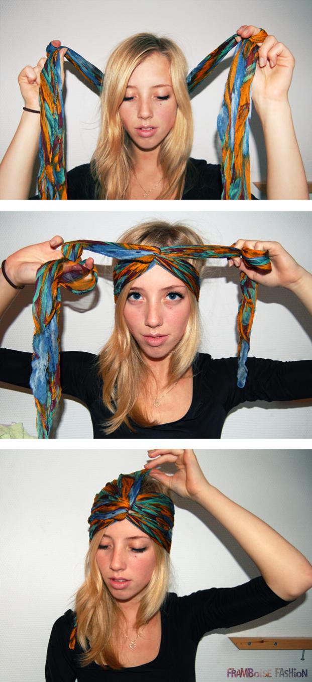 Как вязать платки на голову