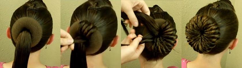 Как сделать красивую причёску шишку