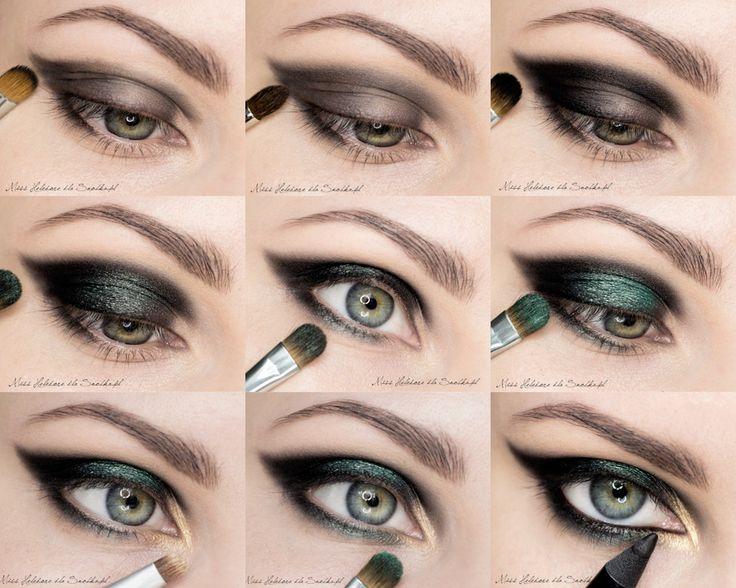 Фото макияжа для зеленых глаз со стрелками