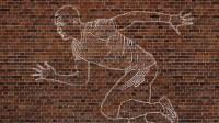Chalk Art On Brick Wall  Creative Fold Studio
