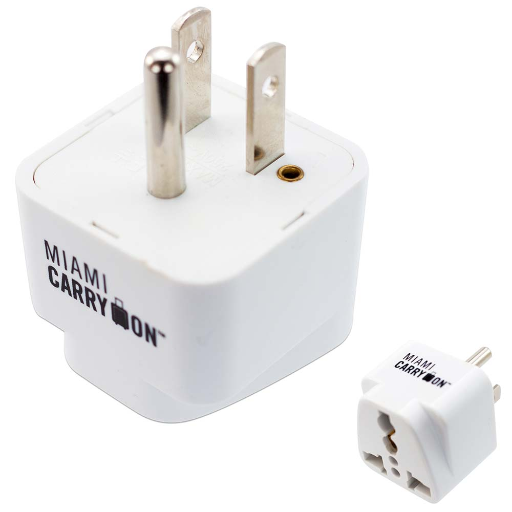 Travel Adapter Eu To Uk Miami Carryon Universal Power Travel Adapter Uk Eu Au Cn To Us Grounded White